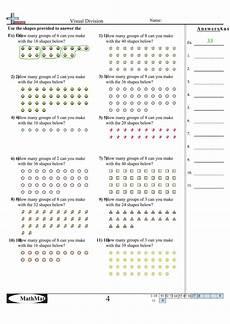 visual algebra worksheets 8622 visual division math worksheets with answer key printable pdf