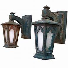 pair of cast iron outdoor sconces at 1stdibs