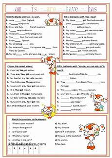 am is are has have worksheet free esl printable worksheets made by teachers english
