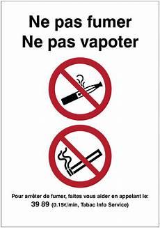 Autocollant Vertical Quot Interdiction De Fumer Et De Vapoter