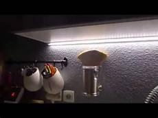 eclairage led cuisine par reglette plan de travail
