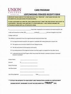 free 7 lost receipt forms in word pdf