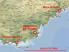 distance toulon transfers adventure sports st tropez