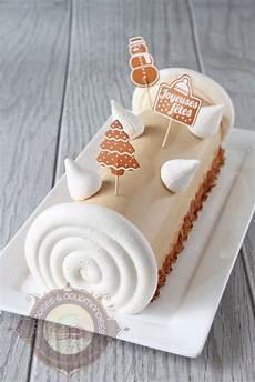 decoration de buche de noel 79271 buche pomme vanille speculoos04 no 235 l 2018 recette dessert noel recette et dulcey
