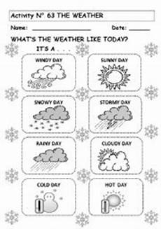 the weather esl worksheet by andresdomingo