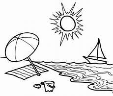 malvorlagen urlaub strand englisch kinder zeichnen und