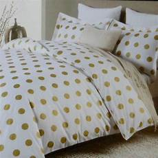 miller large polka dot 3pc queen duvet gold white cotton dots charts polka dots