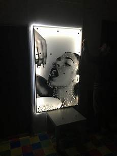led backlit art panel sun studio london
