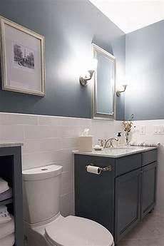 badezimmer halb gefliest contemporary bathroom half wall with tile in 2019