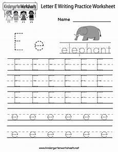 kindergarten letter e writing practice worksheet printable e is for letter of the week