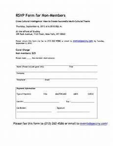 rsvp fax fill online printable fillable blank pdffiller