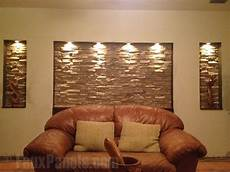 faux stone accent wall adds lots of elegance easy diy