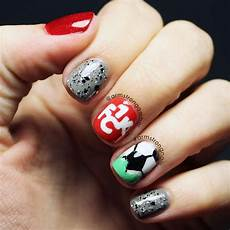 soccer themed nail art for a soccer club in germany named