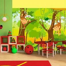 papier peint pour chambre d enfant jungle et singes