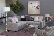purple and gray living room decor we re inspired by the purple and grey color combo in this