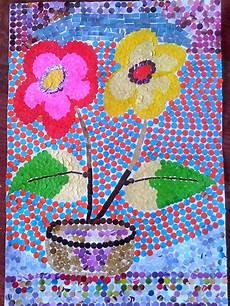 Gambar Mozaik Bunga Mawar