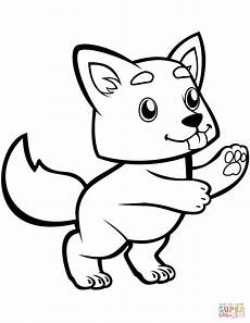 Ausmalbild Wolf Baby Baby Wolf Coloring Page Free Printable Coloring Pages