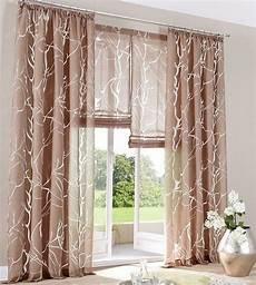 2 st gardine store 140 x 145 braun vorhang schal