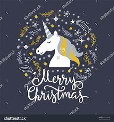 christmas illustration merry christmas unicorn stock vector 515114428