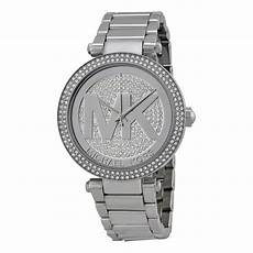 michael kors silver pave stainless