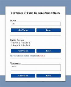 form input jquery jquery get value of input textarea and radio button formget