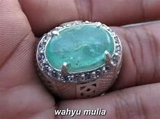 batu cincin emerald zamrud jumbo asli kode 817 wahyu mulia