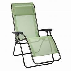 chaise relax lafuma fauteuil relax lafuma vert absinthe transat chilienne