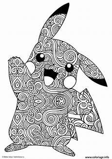 Bilder Zum Ausmalen Schwer Coloriage Mandala Pikachu 224 Imprimer