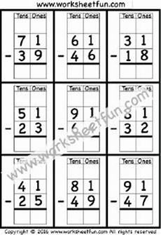 subtraction with regrouping worksheets on graph paper 10688 1000 images about printable worksheets on times tables worksheets tracing