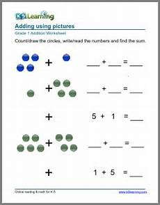 1st grade math worksheet addition with pictures 1st grade math worksheet addition with pictures or