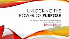 unlocking the power of purpose by the evr1 institute