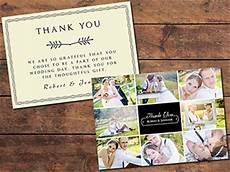 thank you cards template wedding back print templates resources collage thank you card