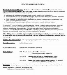 free 5 sle functional resume templates in pdf