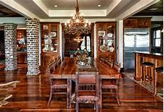 custom home rustic dining room charleston by shoreline construction and development