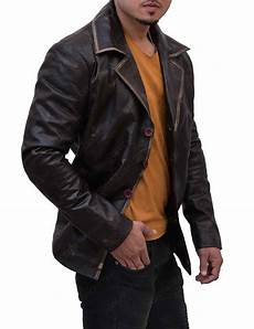 dean winchester jacket leather distressed supernatural