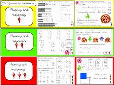 fraction worksheets year 5 equivalent 4175 year 5 equivalent fractions fluency and reasoning teaching resources