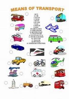 means of transport worksheet by denisa