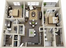 3d Floor Plan Apartment Search Planos De Casas