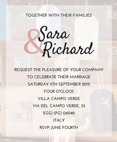 Wedding Invite Words