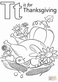 T Is For Thanksgiving Coloring Pages T Is For Thanksgiving Coloring Page Free Printable