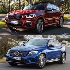mercedes glc coupe 2018 photo comparison new 2018 bmw x4 vs 2018 mercedes