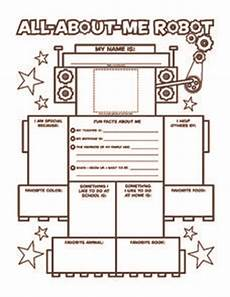 all about me robot 3rd 4th grade worksheet lesson planet