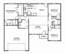 house plan j1433 split floor plan