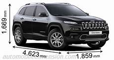 jeep compass 2017 dimensions dimensions of jeep cars showing length width and height