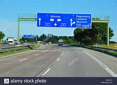 trafic autoroute a9 germany highway a9 multi sign stock photo
