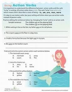 action verbs worksheet education com
