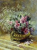 Flowers In A Pot 1878  Claude Monet WikiArtorg