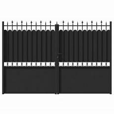 Portail Fer Jardimat Ronchaux Noir 300 X H 185 Cm