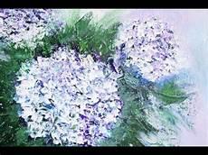 hortensie blumen malen ganz einfach flower painting v134
