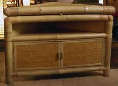 meubles en bambou meuble d angle en bambou et rotin h 70 cm